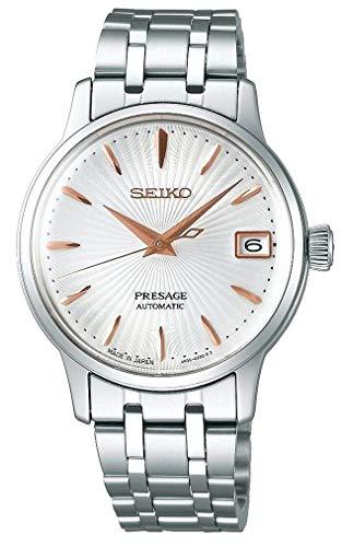 """[プレザージュ]PRESAGE 腕時計 海外モデル 自動巻 (手巻付き) Cocktail""""Spritzer"""" シルバー文字盤 シースルーバック SRP855J1 レディース [並行輸入品]"""
