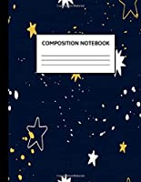 Composition Notebook: Wide Ruled Paper Notebook Journal | Cute Wide Blank Lined Workbook for Teens Kids Students Girls for Home School College Writing Notes | Cute Space & Succulents Pattern | 8.5 x 11, 110 pages