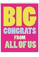 "p3893ジャンボFunnyカード: Big CongratsからUS with Envelope (Extra Largeバージョン: 8.5"" X 11"") 1 Jumbo Valentine's Day Card & Enve. (J2148VDG)"