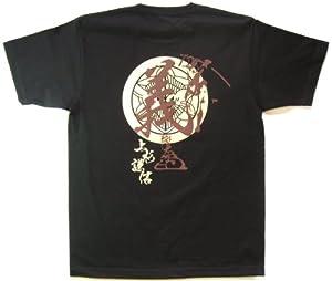 戦国武将Tシャツ 上杉謙信 (XL, ブラック)