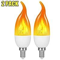 LED炎効果電球、E12 2W 揺らめく炎の電球、温白色炎の燭台電球、クリスマスデコレーション/パーティー/ホーム用 TM-1056949
