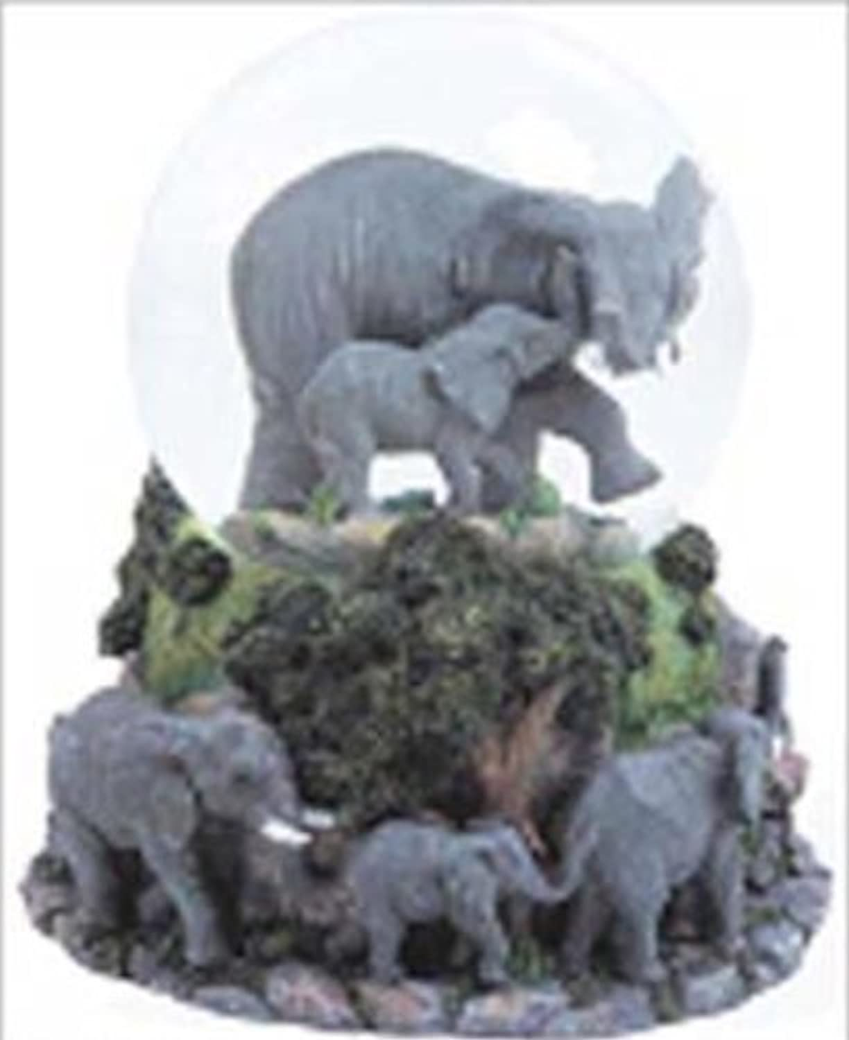 Elephants Musical Snow Globe - Born Free
