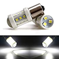 FidgetGear 4本12V 24Vホワイト1156 BA15S 3030 18SMDセラミックLEDターンシグナルLED電球