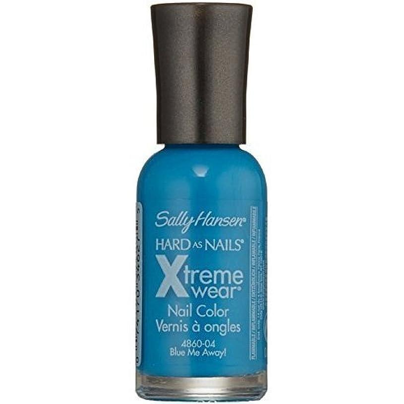 バイナリ喜び綺麗なSALLY HANSEN Hard As Nails Xtreme Wear - Blue Me Away! (並行輸入品)