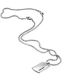 (ポリス)POLICE ペンダント ネックレス PPURITY プレート 24920PSS-A シルバーカラー アクセサリー メンズ 男性用 国内正規品