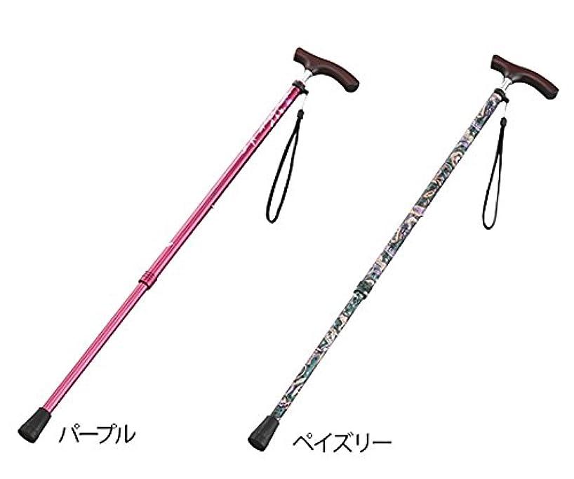 出しますポータルフリース8-6961-02伸縮杖(スリムネックタイプ)ペイズリー(女性用)