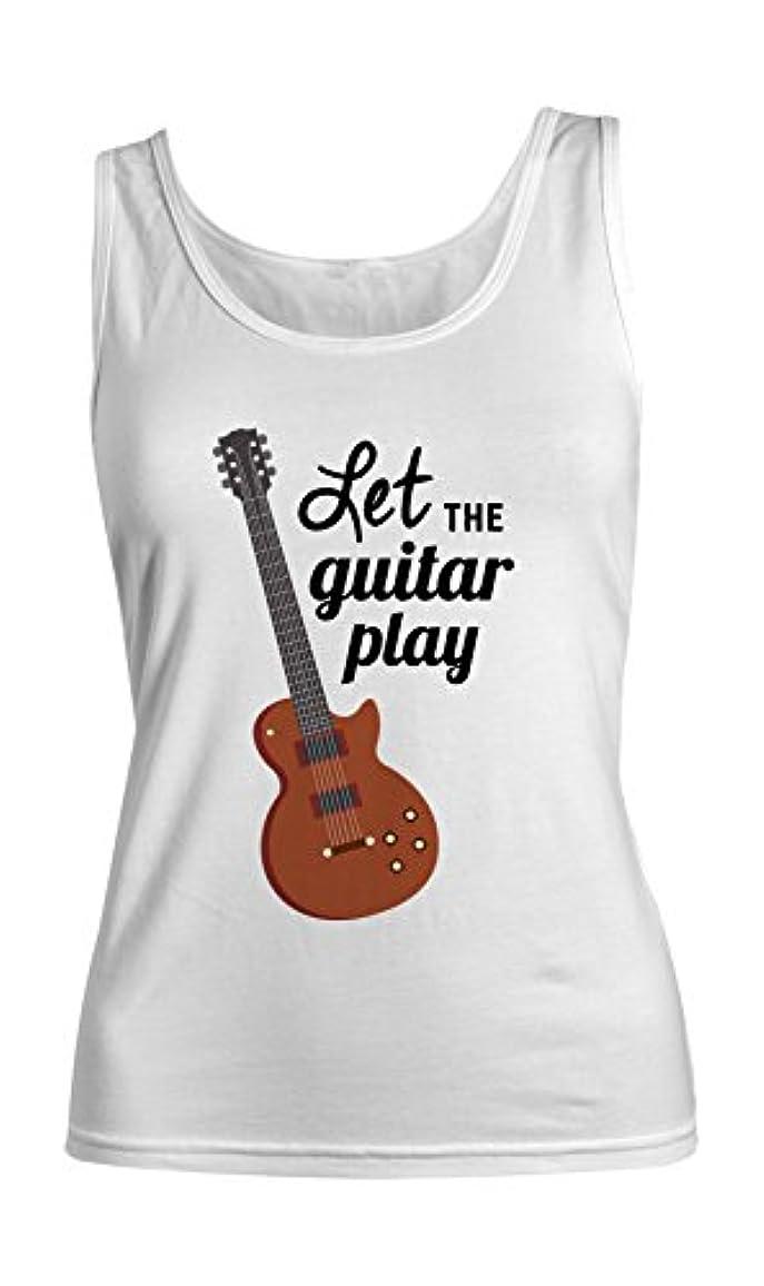 デモンストレーション人物活気づくLet The Guitar Play Musician Artist Guitarist レディース Tank Top Sleeveless Shirt