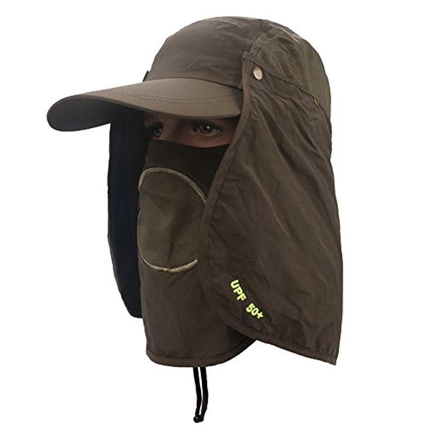 タイプスポーツの試合を担当している人収入Fashionwu 日よけ帽子 フェイスカバー UVカット 取り外し 調節可能 多機能 3way 登山 釣り キャップ