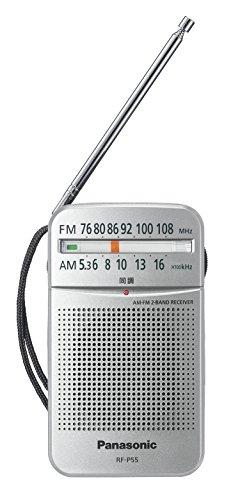 パナソニック ラジオ FM/AM/ワイドFM対応 シルバー ...