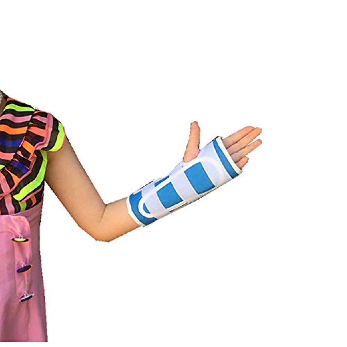 マインドフル百科事典充電ZYL-YL 子供の手関節手首骨折手首捻挫骨折保護具通気性は内蔵アルミ合金シース (Edition : Right)
