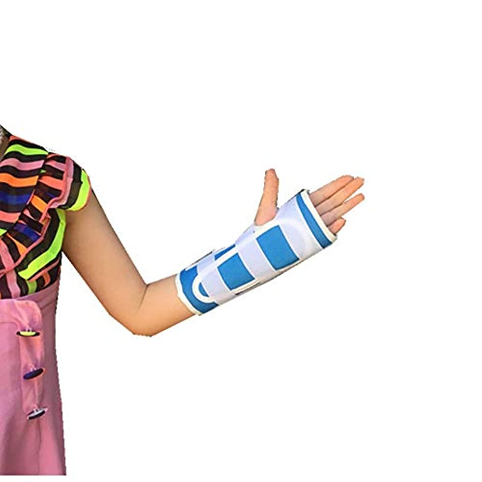 スペイン語配る踏みつけZYL-YL 子供の手関節手首骨折手首捻挫骨折保護具通気性は内蔵アルミ合金シース (Edition : Right)