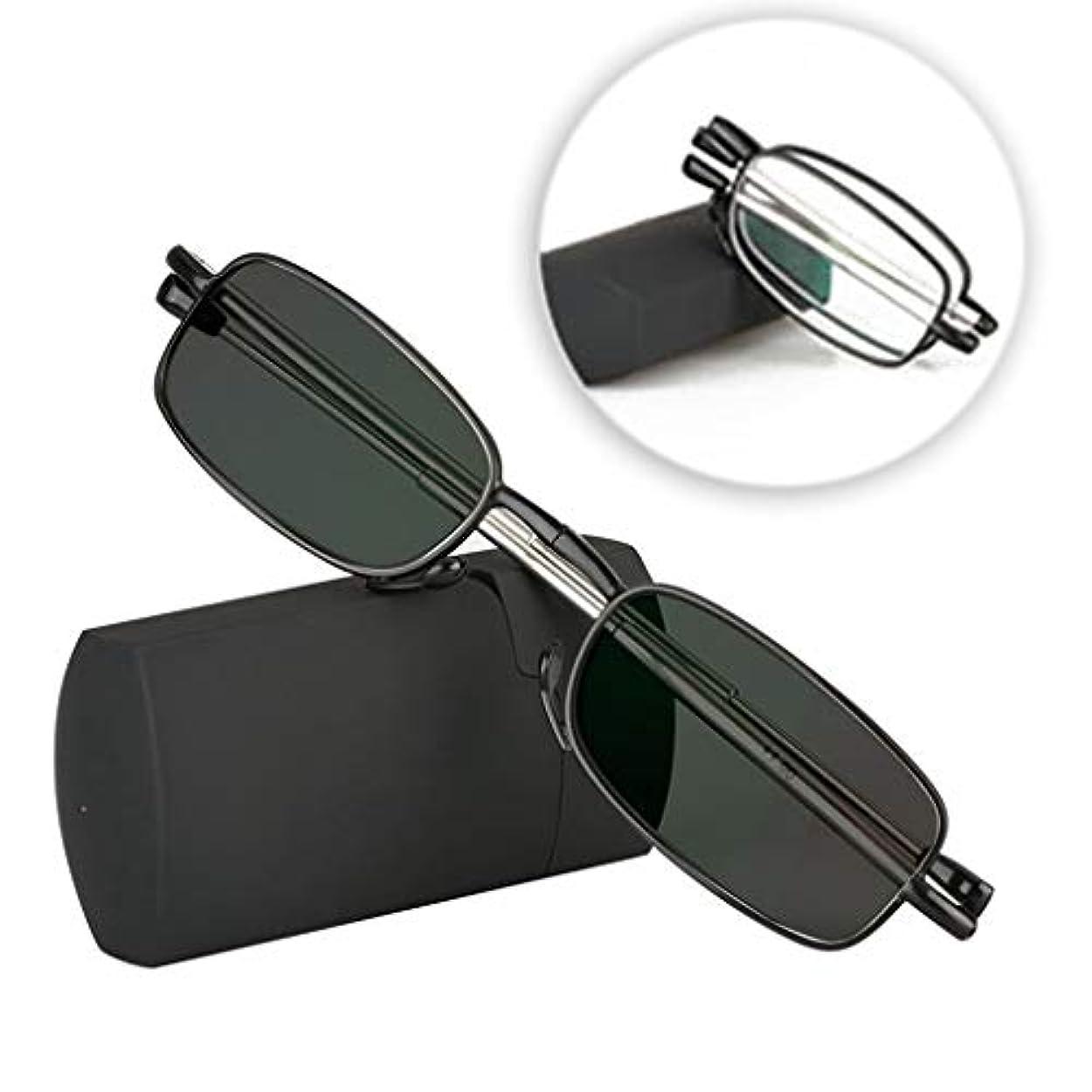 老眼鏡軽量UV保護老眼鏡防眩ファッション折り畳み式リーダーケース付き男女用読書用眼鏡