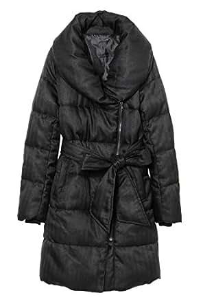(エゴイスト) EGOIST ショールカラー中綿コート BLACK 2