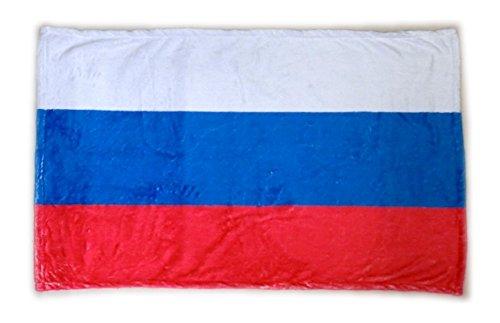 世界の国旗 ひざ掛け・ブランケット ロシア国旗柄(マイクロファイバー生地)スポーツ観戦応援用フラッグ兼用