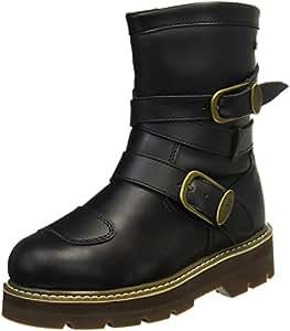 ロッソスタイルラボ(Rosso StyleLab) バイク用ブーツ(レディース) 防水 ライディングハイソールブーツ ブラック 23.0 ROB-202