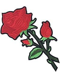 Perfk パッチ 花レース 縫製飾り 刺繍素材 フラワー アイロンパッチ アップリケ 服DIY 工芸品 全7色