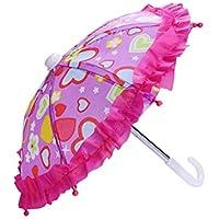 Baoblaze 傘 玩具傘 おもちゃ 人形用 18インチ ドール用 全3種類選ぶ  - ハート型