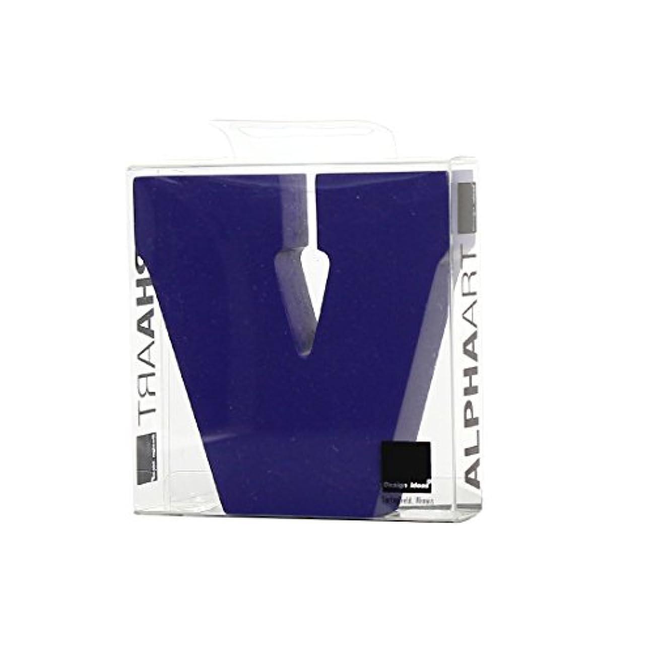 夜明け耐久保護カメヤマキャンドルハウス アルファベットブロック カラフル  アルファアートスモールv 「 パープル 」