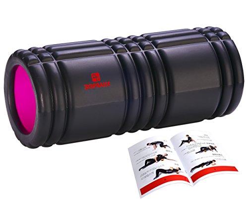 DB Praise フォームローラー Foam Roller 7色 スポーツ トレーニング ストレッチ 器具 解説書付き (T Black)