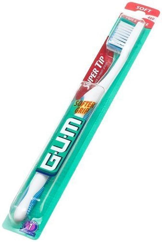 病んでいるしなやかライブ海外直送肘 Gum Butler G-U-M Super Tip Full Head Toothbrush Soft, Soft 1 each