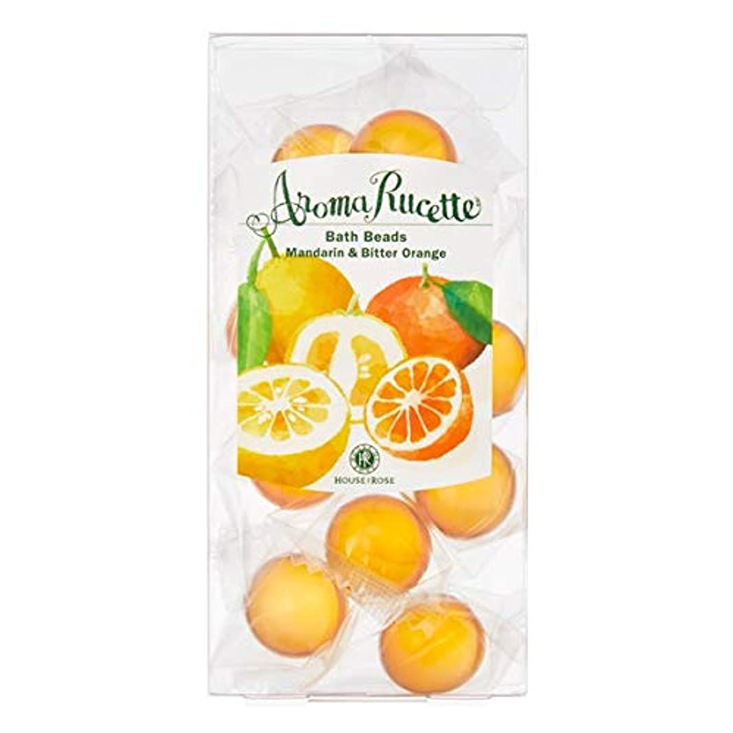 無駄なの間で矩形HOUSE OF ROSE(ハウスオブローゼ) ハウスオブローゼ/アロマルセット バスビーズ MD&BO(マンダリン&ビターオレンジの香り) 7g×11個