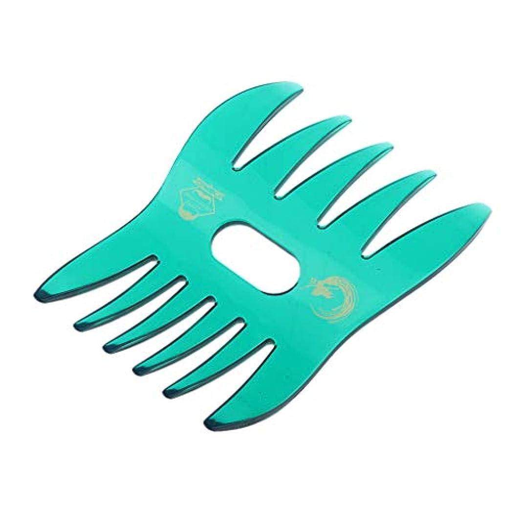 薄いです制限された検出器ヘアコーム デュアルサイド 櫛 くし サロン ヘアスタイル 4色選べ - 緑