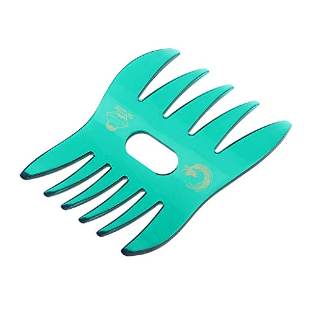 音声学ペグフィットヘアコーム デュアルサイド 櫛 くし サロン ヘアスタイル 4色選べ - 緑