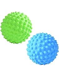 Prettyia マッサージローラーボール 指圧ボール PVC トリガーポイント 疲れ解消ボール ヨガ 疲労軽減 2個