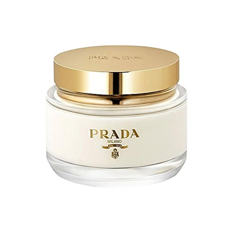 ソロ適格反対にプラダラファムボディクリーム200ミリリットル x4 - Prada La Femme Body Cream 200ml (Pack of 4) [並行輸入品]