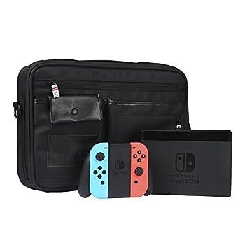 Nintendo Switch 収納カバン 旅行やホームストレージケース 防塵 防水 防湿 収納バッグ (ブラック)