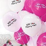 ロマンチックな バルーン 風船 2色 10コセット will you marry me? プロポーズに!
