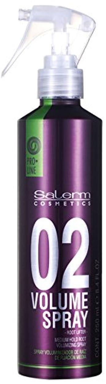 オーガニックパイル努力Salerm 化粧品は、02プロラインボリュームミディアムホールドルート-size 8.4オンススプレー 8.4オンス