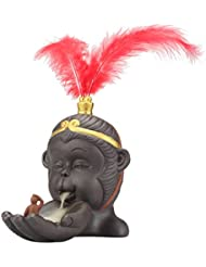 Perfk 仏教 香炉 バーナーホルダー 小型 逆流コーン 香バーナー 持ち運び 容易 全2色 - 赤