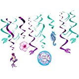 Perfeclan 渦巻き装飾 女の子 誕生日パーティー ベビーシャワー 人魚 吊りデコレーション