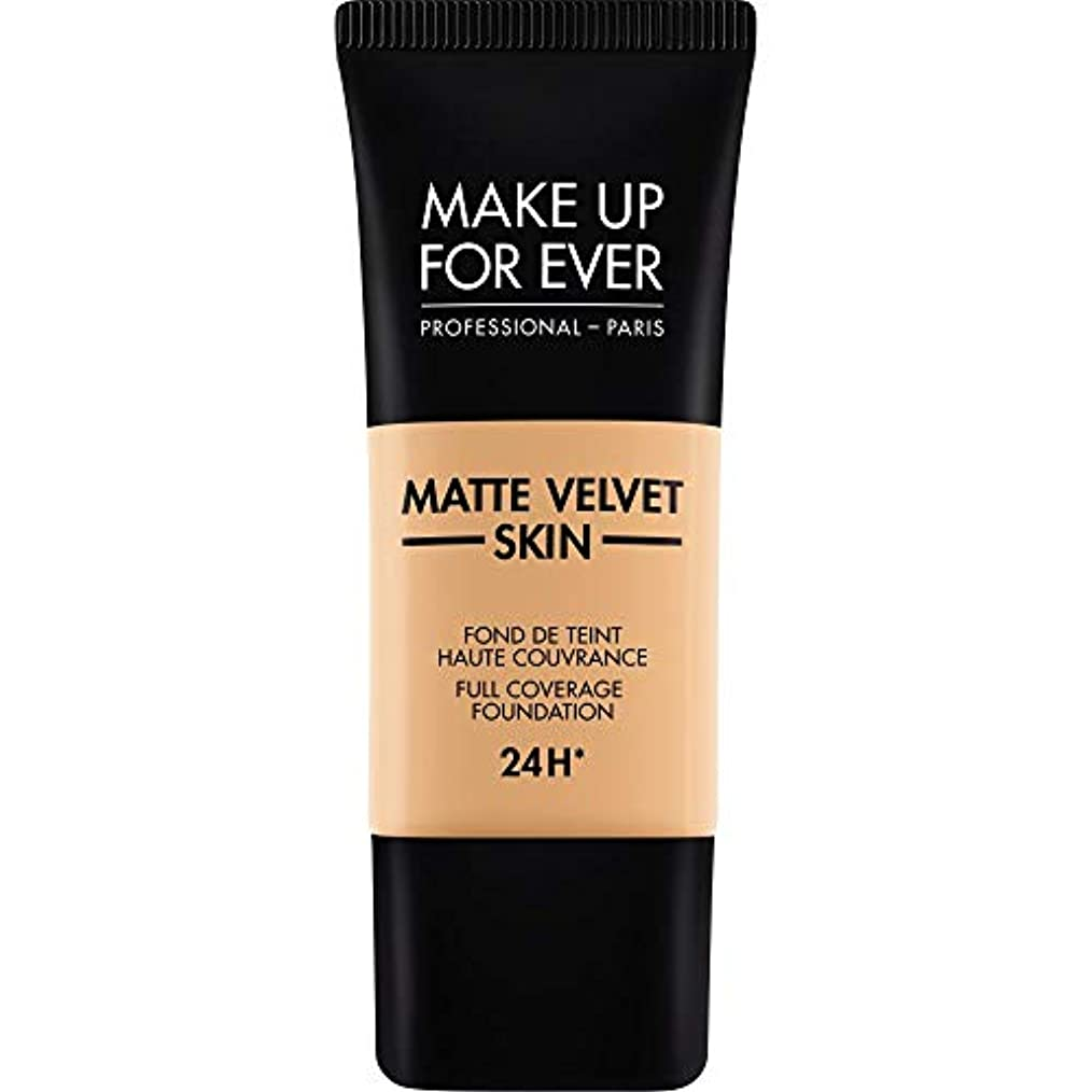 攻撃強風まさに[MAKE UP FOR EVER] これまでマットベルベットの皮膚のフルカバレッジ基礎30ミリリットルのY315を補う - 砂 - MAKE UP FOR EVER Matte Velvet Skin Full Coverage...