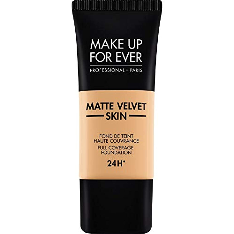 温かいタイプライター生じる[MAKE UP FOR EVER] これまでマットベルベットの皮膚のフルカバレッジ基礎30ミリリットルのY315を補う - 砂 - MAKE UP FOR EVER Matte Velvet Skin Full Coverage...