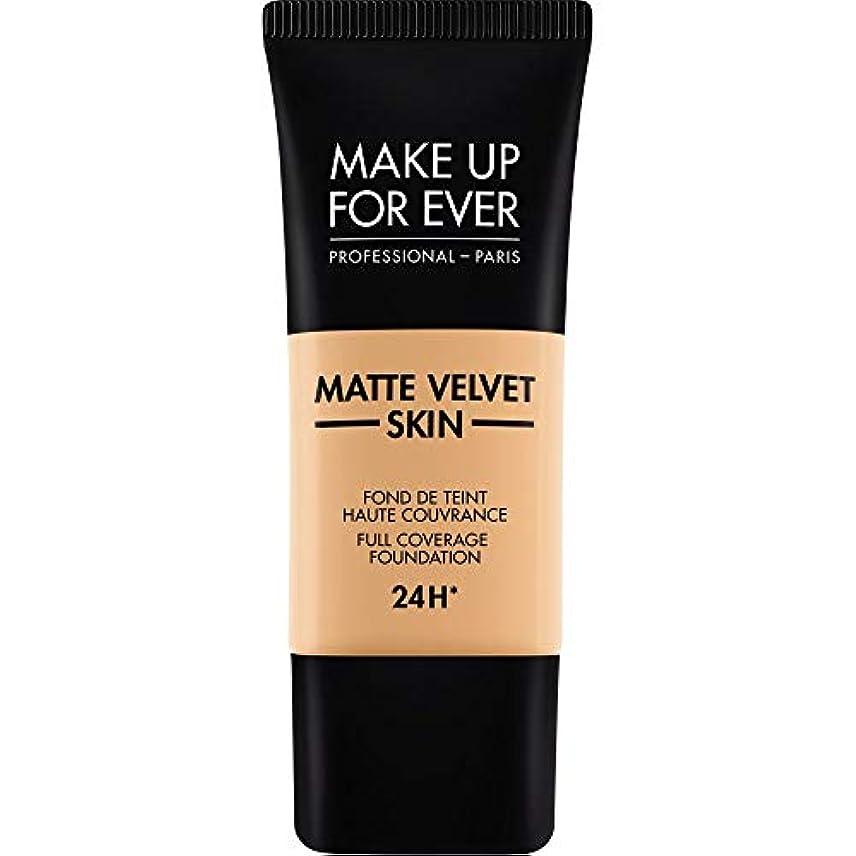 お勧めバスルーム銀[MAKE UP FOR EVER] これまでマットベルベットの皮膚のフルカバレッジ基礎30ミリリットルのY315を補う - 砂 - MAKE UP FOR EVER Matte Velvet Skin Full Coverage...