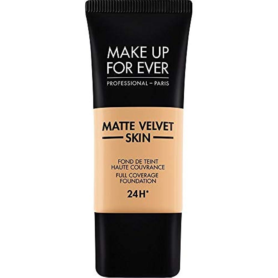 原稿令状安全な[MAKE UP FOR EVER] これまでマットベルベットの皮膚のフルカバレッジ基礎30ミリリットルのY315を補う - 砂 - MAKE UP FOR EVER Matte Velvet Skin Full Coverage...