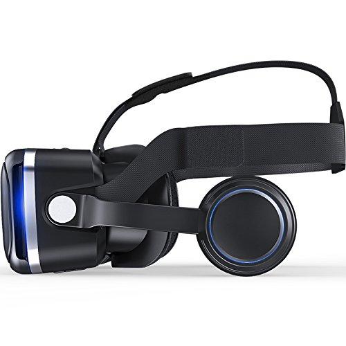 VRゴーグル3DVRメガネヘッドマウント3Dメガネスマトゴーグル仮想現実超3D映像効果(iPhoneSamsungGalaxyNoteHTCHUAWEIなど4~6.0インチまでのスマートフォンに対応)
