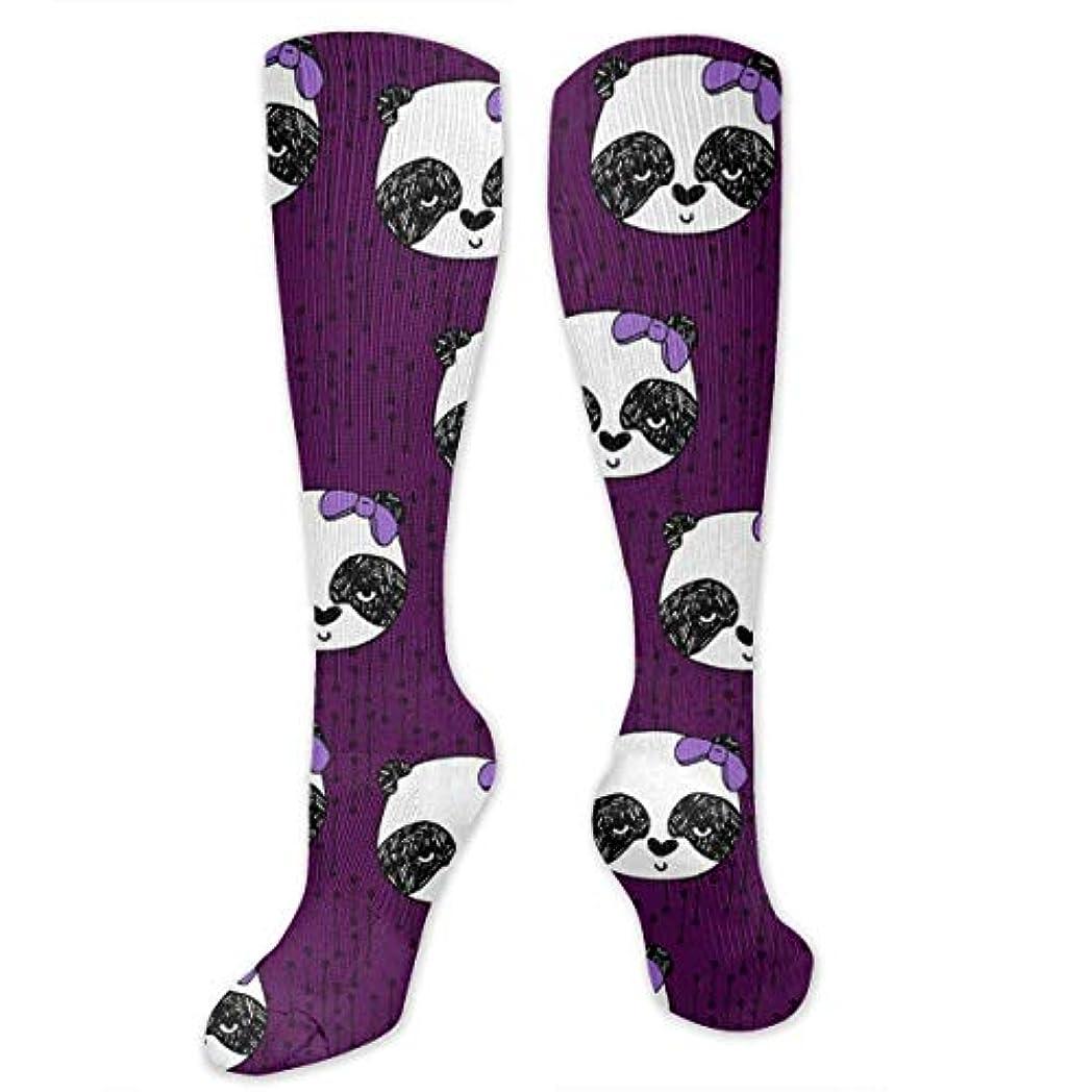 壊れた目に見える組み込む靴下,ストッキング,野生のジョーカー,実際,秋の本質,冬必須,サマーウェア&RBXAA Panda with Bow Socks Women's Winter Cotton Long Tube Socks Cotton...
