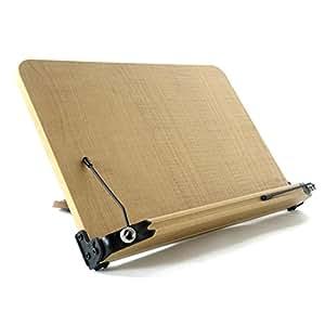 ブックスタンド 13段階調節 (307mm x 210mm) 書見台 筆記台 読書台 肩こり解消 木のぬくもり折りたたみ式  軽い 移動式 多用途