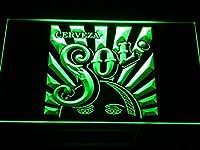 Cerveza SolLED看板 ネオンサイン ライト 電飾 広告用標識 W30cm x H20cm グリーン