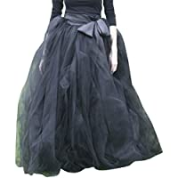 Wedding Planning Women's A-Line Tulle Strips Ruffles Tutu Ball Gown Skirts