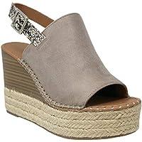 MVE Shoes Womens Stylish Soda Espadrille Comfortable Wedge Heels