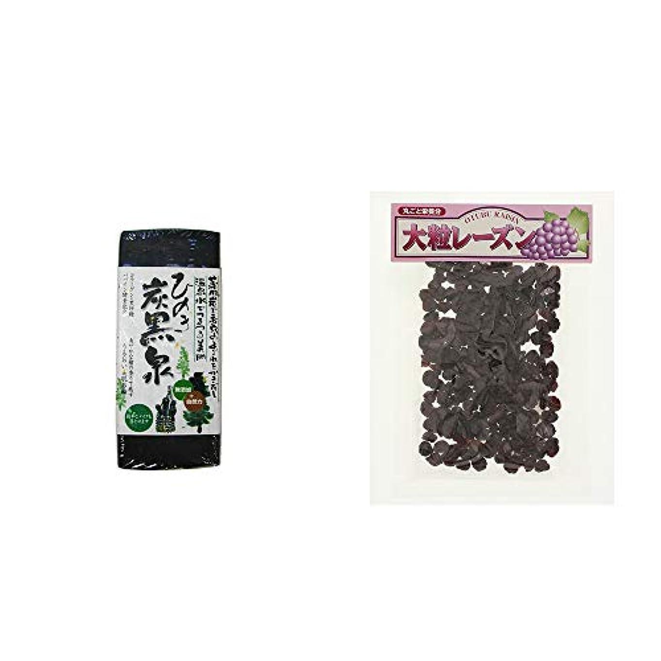 エンコミウム味わうカウンターパート[2点セット] ひのき炭黒泉(75g×2)?大粒レーズン(280g)