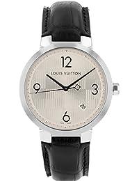 [ルイヴィトン] LOUIS VUITTON 腕時計 Ref.Q1D01 タンブール ダミエ シルバー SS/レザー クォーツ メンズ [中古品] [並行輸入品]
