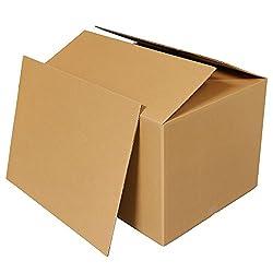 ボックスバンク ダンボール(段ボール箱)160サイズ 5枚セット 中敷き板付(2つ折り配送) FD02-0001