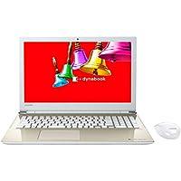 東芝 15.6型ノートパソコン dynabook T45 サテンゴールド(Office Home&Business Premium プラス Office 365 サービス) PT45BGP-SJA2