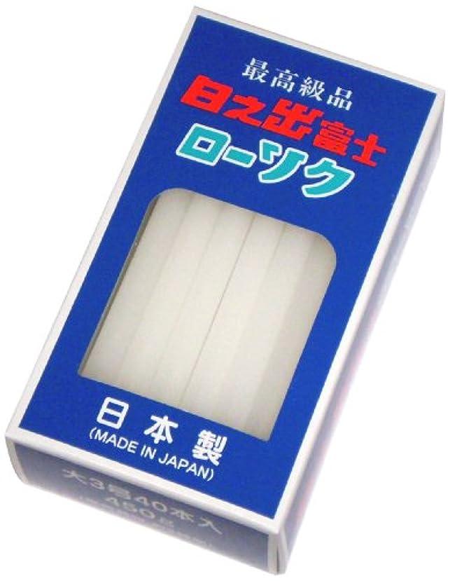 お願いしますプーノ補う国光産業の日之出富士ローソク 3号40本入450g