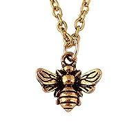 ヴィンテージMinial Honeybee BumblebeeネックレスInsectジュエリーレディースガールズ
